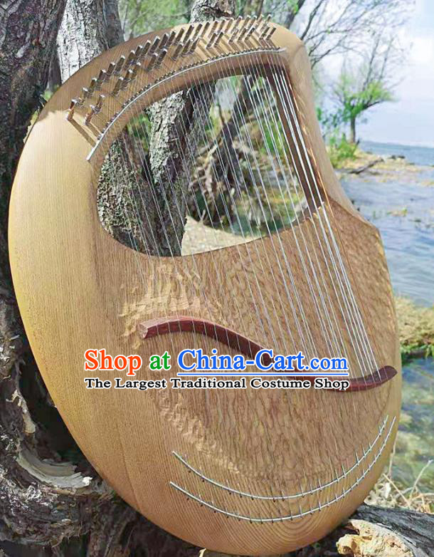 Greek Traditional Musical Instruments Greece Religious 39 Strings Harp String Instrument Elm Wood Lyre Harp