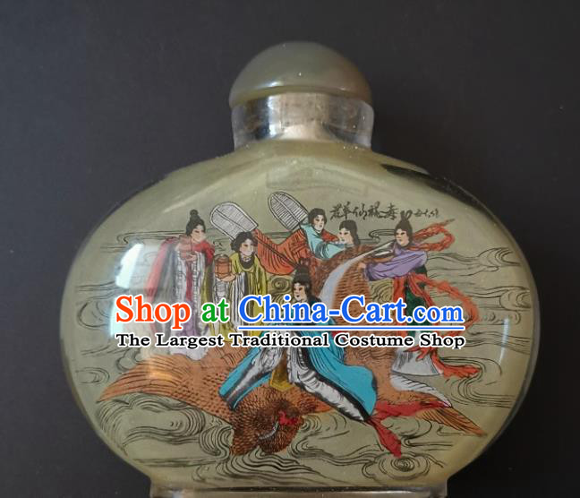 Chinese Snuff Bottle Traditional Handmade Painting Goddess Fairy Snuff Bottles