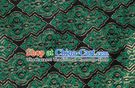 Chinese Traditional Jacquard Pattern Design Black Satin Brocade Fabric Tapestry Cloth Asian Silk Material
