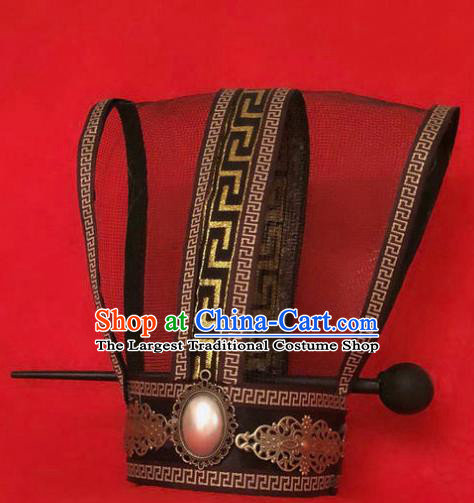 Chinese Traditional Han Dynasty Prince Hair Crown and Hairpin Headwear Ancient Childe Hair Accessories for Men