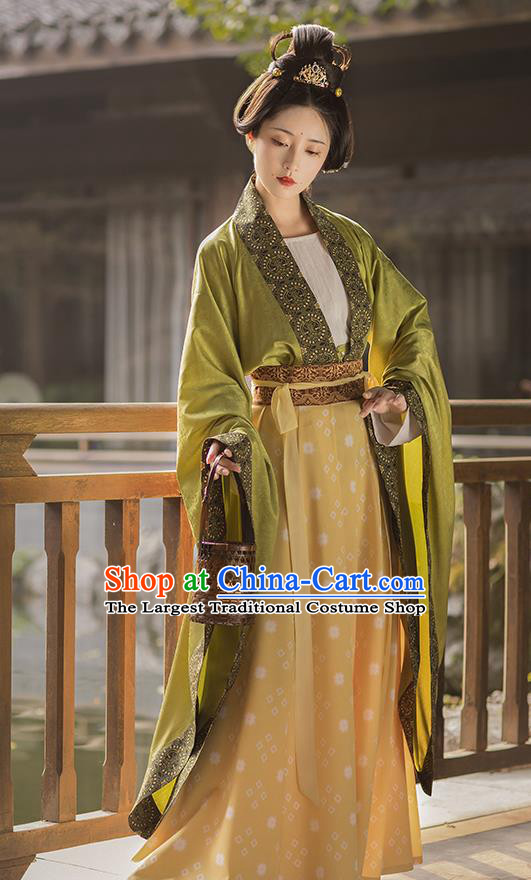 China Southern and Northern Dynasties Historical Clothing Ancient Court Lady Hanfu Dress