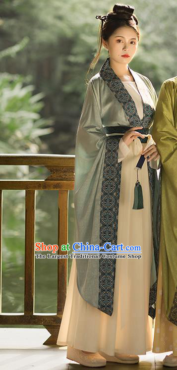 Ancient China Southern and Northern Dynasties Historical Clothing Traditional Court Lady Hanfu Dress