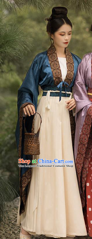 China Ancient Court Maid Hanfu Dress Traditional Southern and Northern Dynasties Palace Lady Historical Clothing Full Set