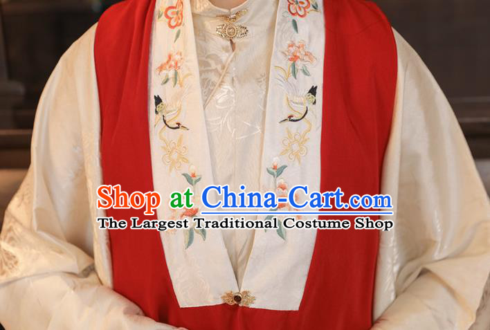 China Traditional Ming Dynasty Patrician Beauty Historical Clothing Ancient Noble Lady Embroidered Hanfu Dress Apparels
