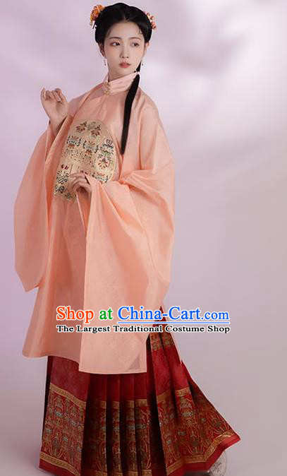 China Ming Dynasty Royal Princess Historical Clothing Ancient Palace Beauty Dress Traditional Hanfu Apparels