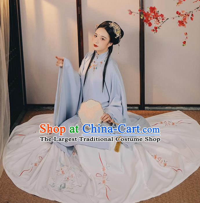 China Ancient Court Lady Hanfu Dress Traditional Ming Dynasty Noble Beauty Historical Clothing for Women