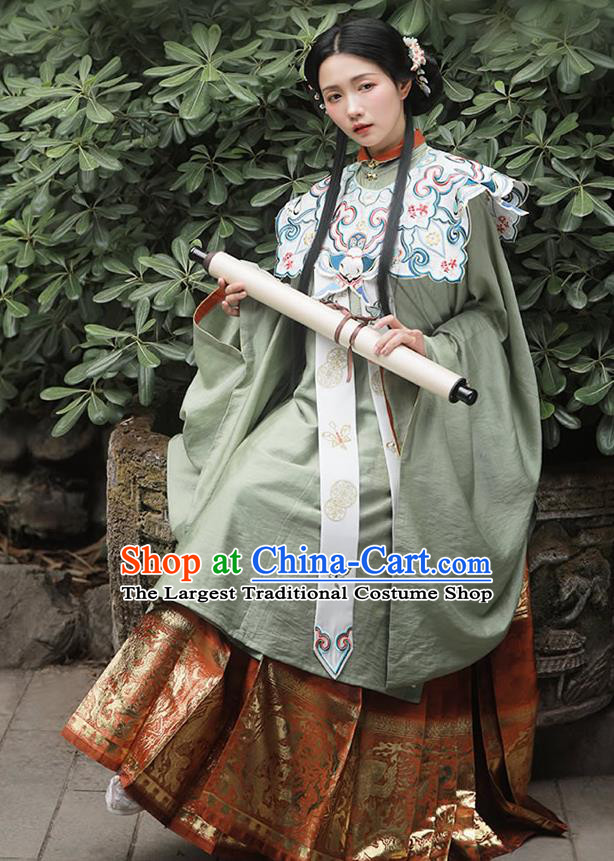 China Traditional Ming Dynasty Court Beauty Historical Clothing Ancient Royal Princess Hanfu Costumes