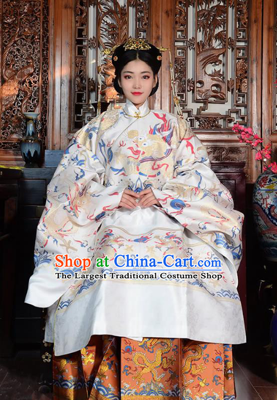 Traditional China Ming Dynasty Empress Historical Clothing Ancient Royal Queen Costumes Full Set