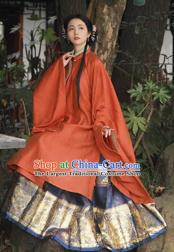 China Ancient Royal Princess Hanfu Dress Traditional Ming Dynasty Palace Beauty Historical Clothing Full Set