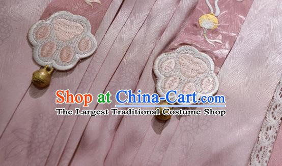 China Traditional Ming Dynasty Court Lady Historical Clothing Ancient Palace Princess Embroidered Hanfu Dress