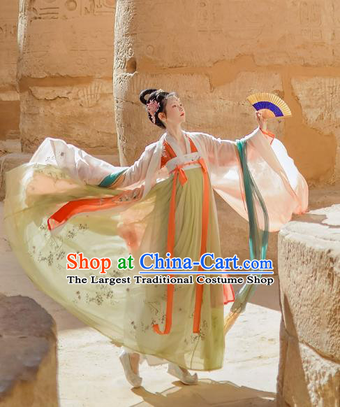 China Ancient Imperial Concubine Clothing Traditional Tang Dynasty Court Woman Historical Costume Complete Set