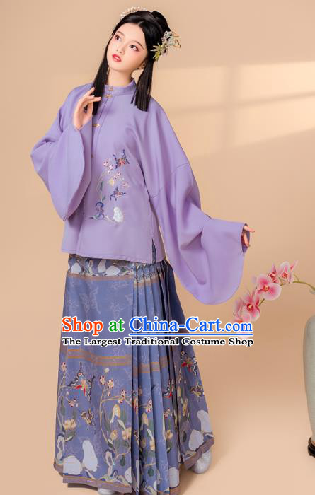 China Ancient Court Beauty Clothing Traditional Ming Dynasty Palace Princess Embroidered Historical Costume