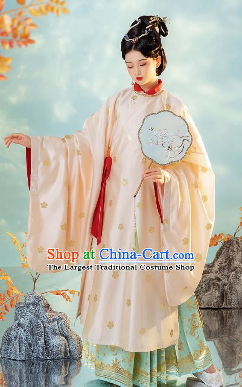 China Ancient Imperial Concubine Hanfu Dress Traditional Ming Dynasty Court Woman Historical Clothing
