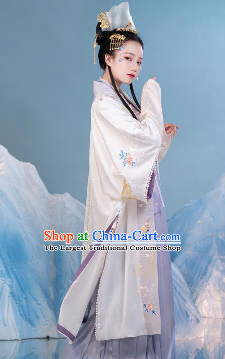 China Ancient Imperial Concubine Hanfu Dress Traditional Song Dynasty Noble Woman Historical Clothing Complete Set