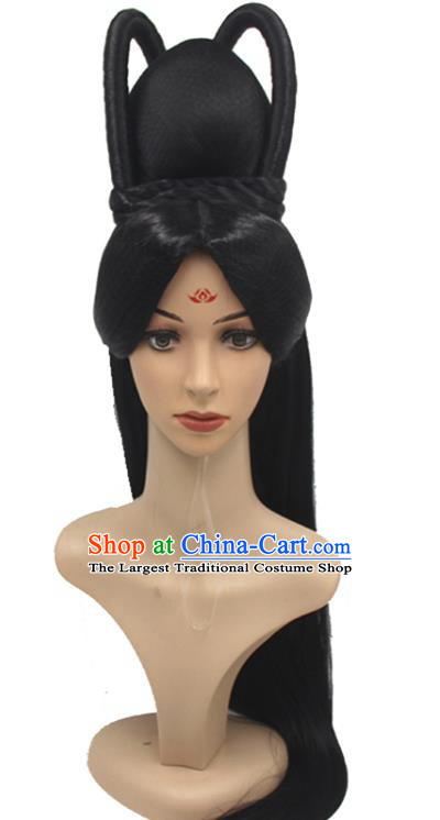 Chinese Ancient Goddess Wigs Sheath Han Dynasty Imperial Consort Hair Chignon Headwear