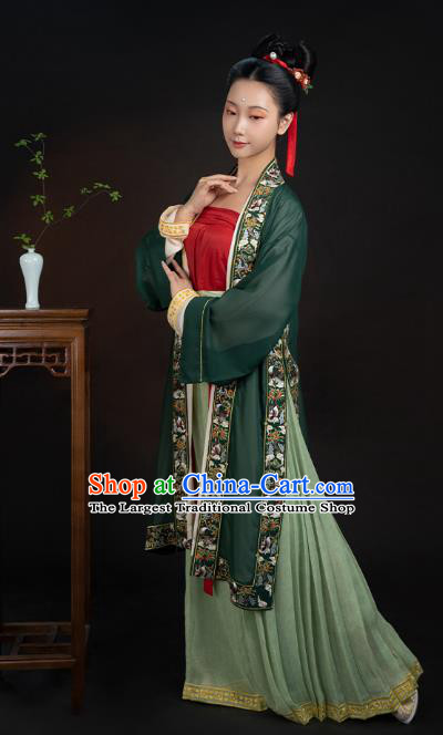 China Ancient Palace Beauty Historical Clothing Traditional Song Dynasty Imperial Consort Hanfu Dress Apparels