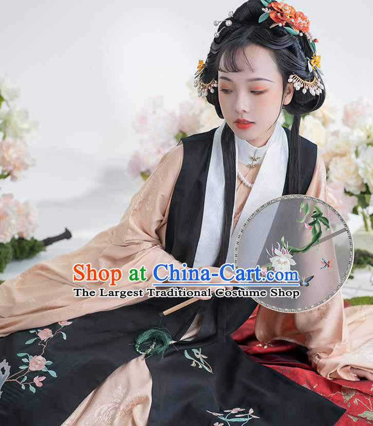 China Traditional Ming Dynasty Imperial Woman Historical Clothing Ancient Nobility Female Hanfu Embroidered Costumes Full Set