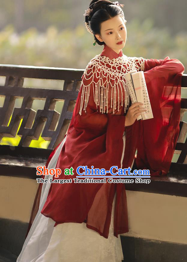 China Traditional Ming Dynasty Imperial Consort Historical Clothing Ancient Court Countess Hanfu Dress Costumes
