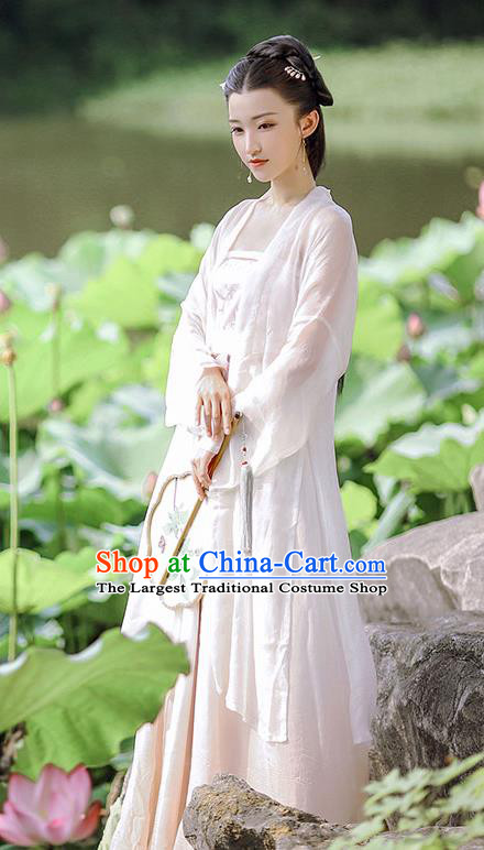 Traditional China Song Dynasty Village Girl Historical Clothing Ancient Civilian Lady Dress Hanfu Costume