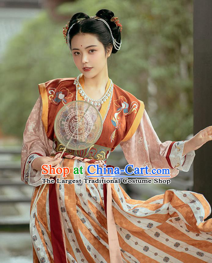 China Ancient Palace Princess Hanfu Dress Traditional Tang Dynasty Court Lady Historical Clothing Complete Set