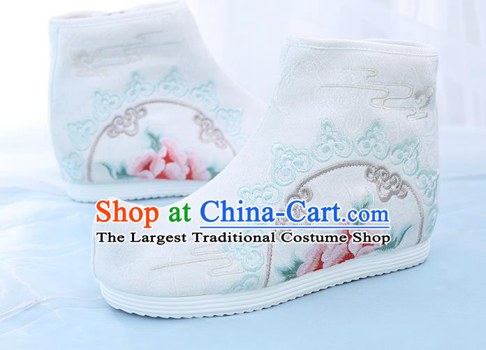 China Embroidered Short Boots National Cloth Shoes Traditional Hanfu Boots