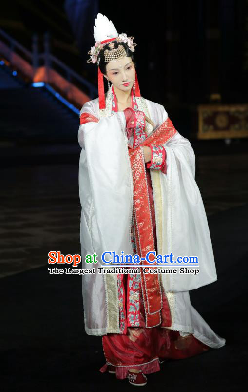 Traditional China Song Dynasty Wedding Historical Costumes Ancient Court Empress Hanfu Clothing Full Set