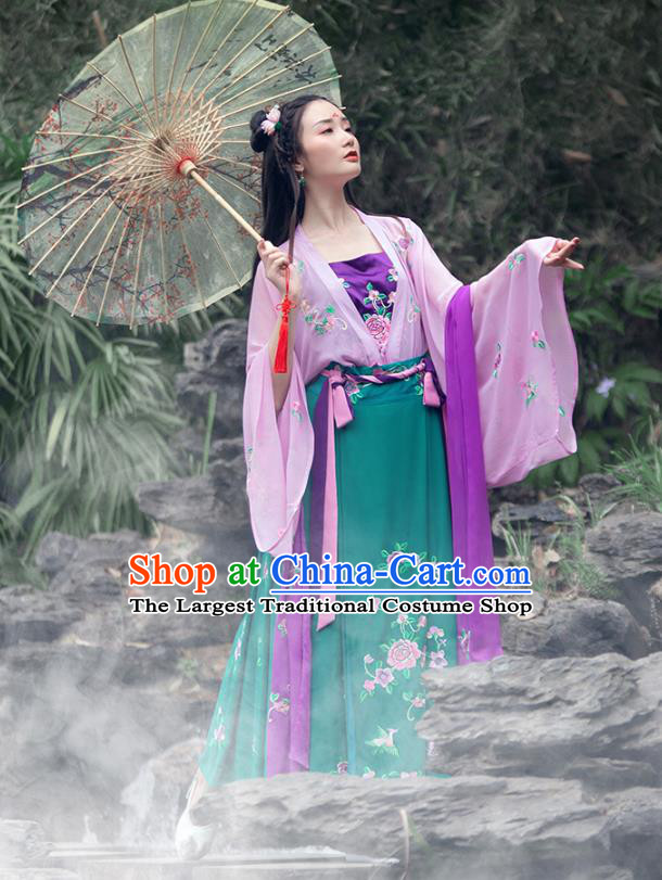 Traditional China Ming Dynasty Royal Princess Hanfu Dress Ancient Court Beauty Historical Clothing Full Set