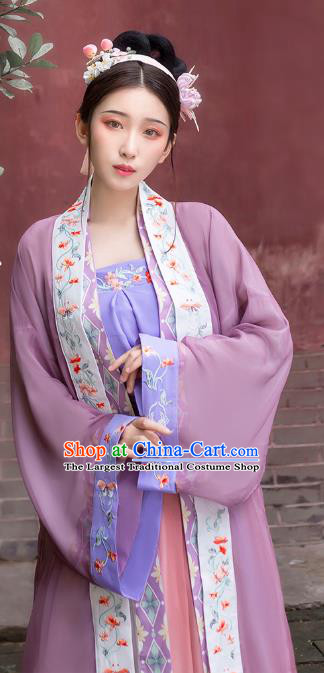 Traditional China Song Dynasty Palace Beauty Historical Clothing Ancient Imperial Consort Hanfu Dress Full Set
