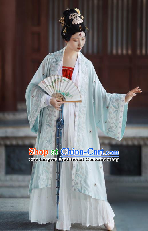 China Song Dynasty Imperial Concubine Historical Costumes Ancient Court Beauty Dress Clothing Traditional Hanfu Apparels