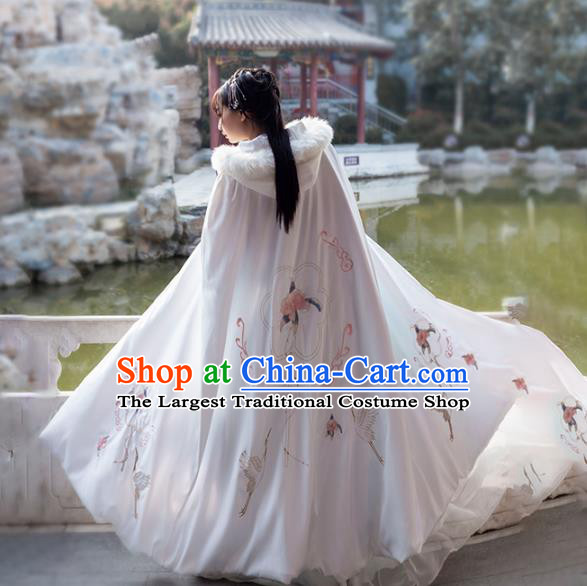 China Ancient Palace Lady Hanfu Cape Traditional Ming Dynasty Princess Historical Clothing
