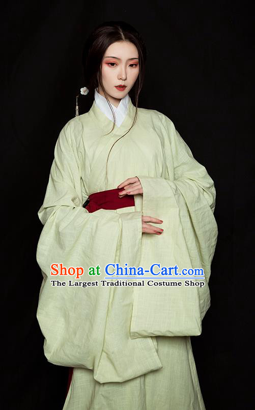 Traditional China Jin Dynasty Imperial Consort Historical Clothing Ancient Palace Lady Green Hanfu Dress