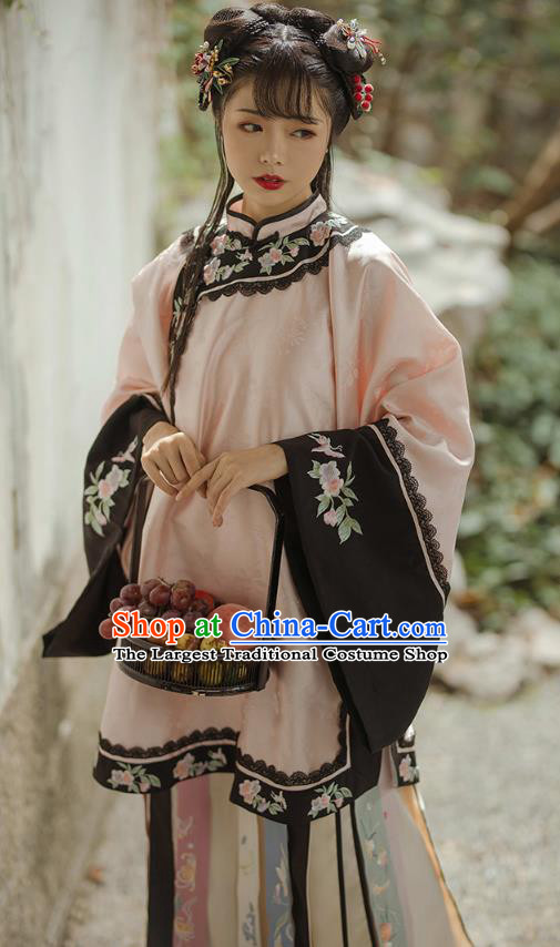 China Ancient Rich Female Clothing Traditional Qing Dynasty Noble Lady Historical Costume