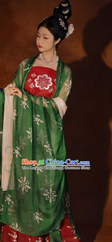 China Ancient Palace Beauty Hanfu Clothing Traditional Tang Dynasty Princess Gao Yang Historical Costumes Full Set
