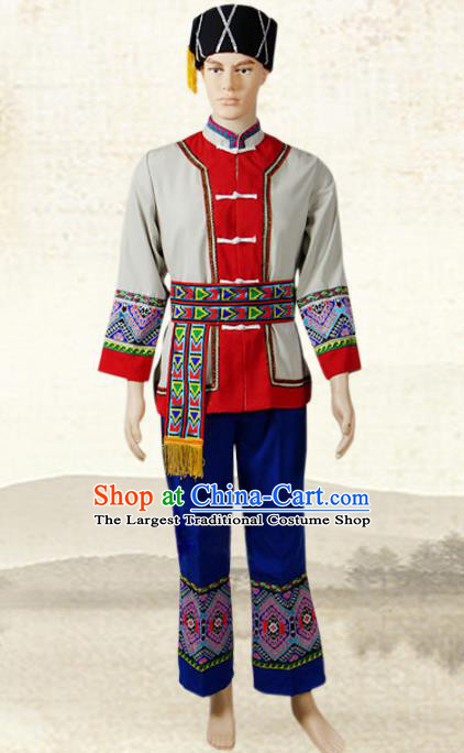 China Tujia Nationality Folk Dance Costumes Hunan Ethnic Minority Stage Show Outfits Clothing and Hat
