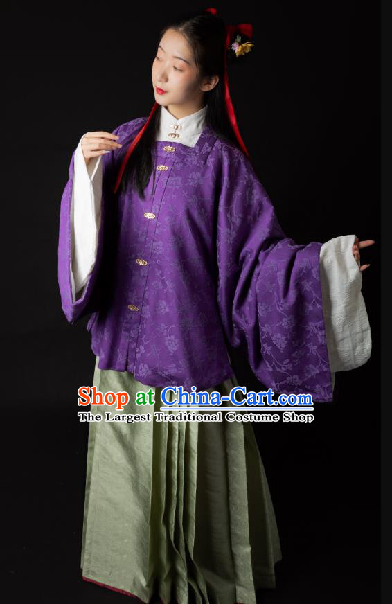 China Traditional Ming Dynasty Patrician Woman Clothing Ancient Noble Beauty Hanfu Costumes Full Set