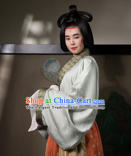 China Traditional Jin Dynasty Court Beauty Historical Clothing Ancient Palace Lady Hanfu Dress Costumes
