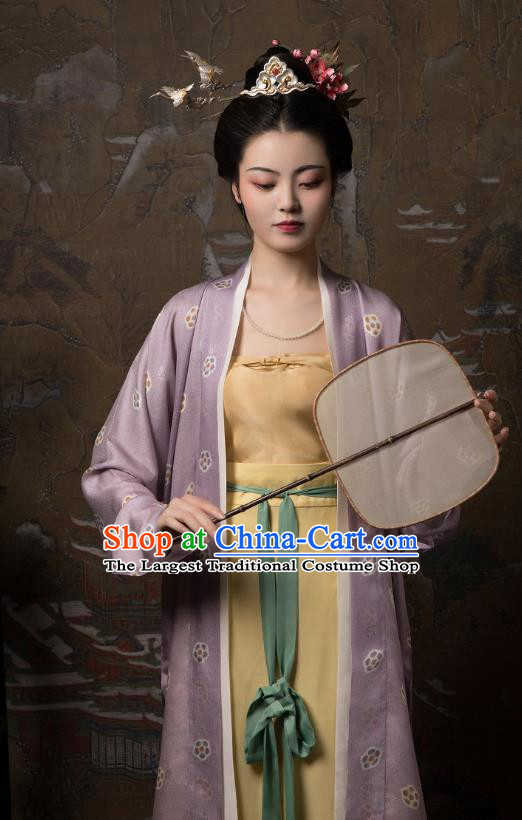 China Ancient Palace Lady Hanfu Dress Traditional Song Dynasty Court Beauty Historical Clothing Full Set