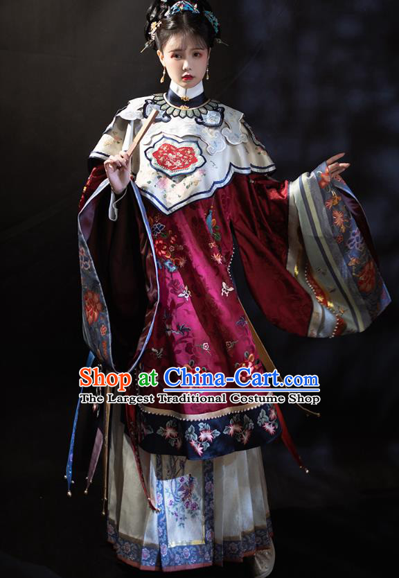 China Ancient Imperial Consort Hanfu Apparels Traditional Ming Dynasty Court Woman Historical Clothing Complete Set
