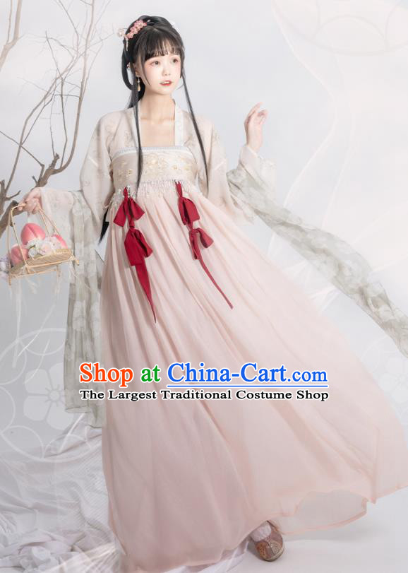 Traditional China Tang Dynasty Princess Historical Clothing Ancient Palace Lady Hanfu Dress Garment