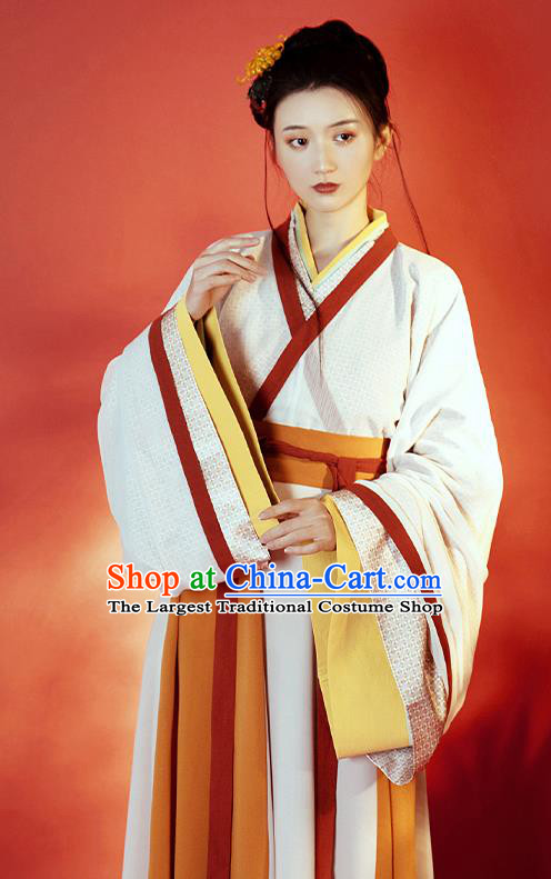 China Ancient Imperial Concubine Hanfu Dress Garment Traditional Jin Dynasty Court Princess Historical Costumes