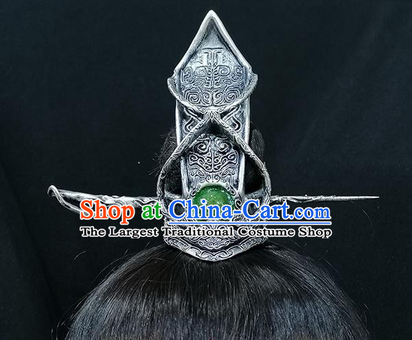 Chinese Handmade Ancient Drama Swordsman Hairdo Crown Traditional Tang Dynasty Prince Hair Accessories