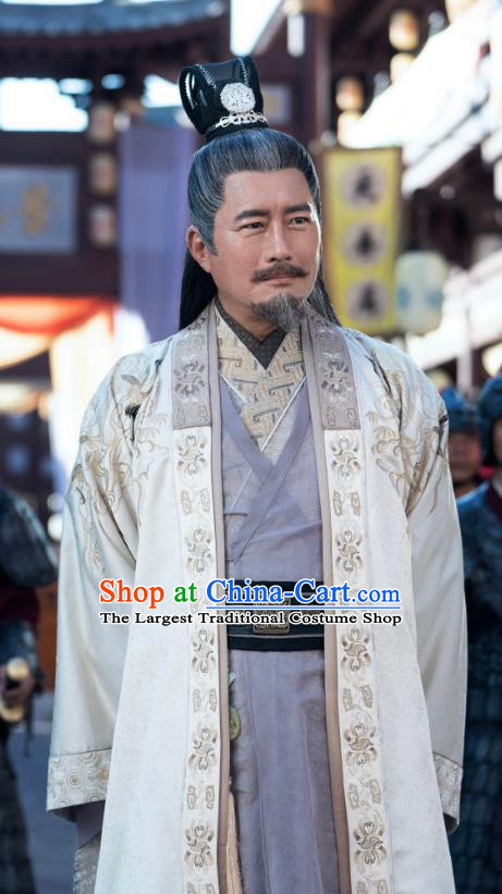 China Ancient Elderly Official Costumes Television Drama My Heroic Husband Traditional Ming Dynasty Prime Minister Clothing